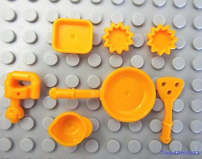 LEGO FOOD UTENSILS ICE CREAM CUPS COFFEE PIZZA MEAT SQUISHEE BONUS INCLUDED