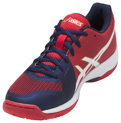 Asics Gel-Tactic Women's Volleyball Shoes, Blue/White/Red, B752N-4901 NEW!