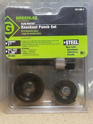 NEW Greenlee 7211BB-1 Slug Buster Knockout Punch Set *NEW*