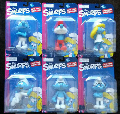 The Smurfs Large figureine complete collection BNIB