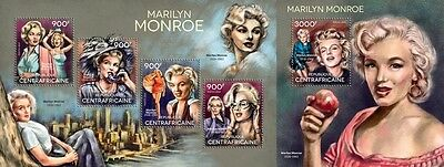 CA14605ab Central Africa 2014 Marilyn Monroe MNH SET