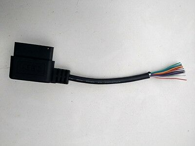 "OBD2 OBDII extension cable,8"",J1962M right angle male X open, ALL 16 PINS WIRED!"