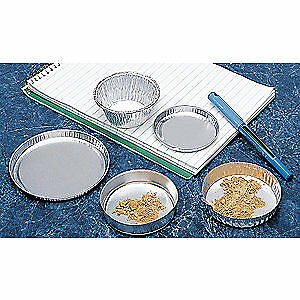 EAGLE THERMOPLASTIC Aluminum Weighing/Drying Pan,1/4 In. D,PK50, D-123, Gray