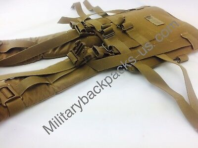 USMC Main BackPack Shoulder Strap Harness Assembly Coyote Brown FILBE  Military