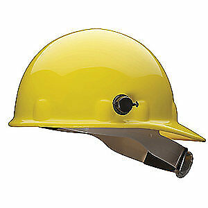 HONEYWELL FIBRE-METAL Hard Hat,8 pt. Ratchet,Ylw, E2QSW02A000, Yellow