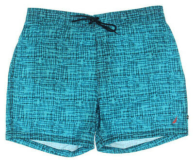 NEW Mens Nautica Quick Dry Aqua Isle Beach Surf Swim Board Shorts Sz XXL