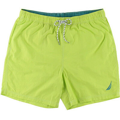 NEW Mens Nautica Quick Dry Lime Twist Beach Surf Swim Board Short Size S (28-30)
