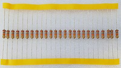 25pcs 27K Ohm (27K) 0.5W Carbon Film Resistor 5% Flameproof