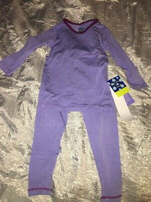Kickee Pants Long Sleeve Pajama Set - Forget Me Not With Melody 2T
