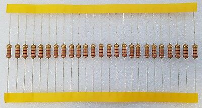 25pcs 2.2K Ohm (2K2) 0.5W Carbon Film Resistor 5% Flameproof