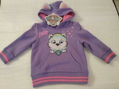 Paw Patrol Girls Jumper / Hoodie / Sizes 3, And 4.