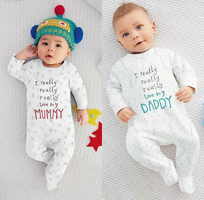 US Stock Toddler Baby Boy Girl Casual Cotton Romper Jumpsuit Sleepsuit OutfitNEW