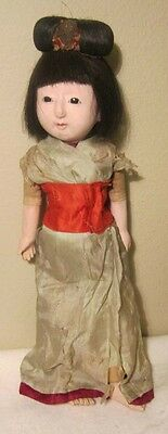 Japanese Antique Ichimatsu Girl Child Doll Very Fragile