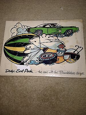 Dodge Scat pack the cars with the Bumble Bee stripes. 1969 promotional puzzle