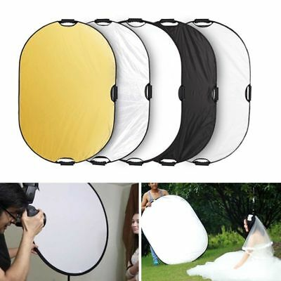 5-in-1 Photography Studio Collapsible Multi Disc Photo Light Reflector 80x120CM