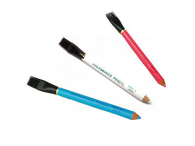 Japan Tailors Chalk Pencils With Brush Colour Sewing Quilters Dressmakers Fabric