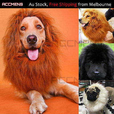 Pet Dog Wigs Lion Mane Costume Puppy Cosplay Fancy Dress Clothes Party 4 Colors