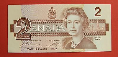 1986 $2 Bank of Canada Thiessen Crow BBX Small B Replacement - 19.95 Ch UNC