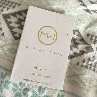 NEW Mai Couture St Barts Highlighter Paper - 25 Sheet Travel Size Pack