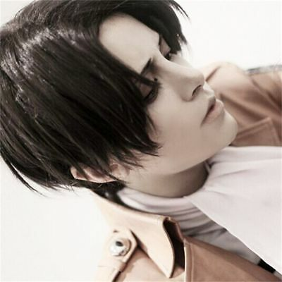 Attack on Titan Captain Levi Ackerman cosplay wig New Fot Party