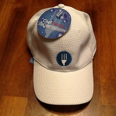 Chef Works Vented Baseball White Hat Cool  Vent CollectiomHeadwear. New with Tag