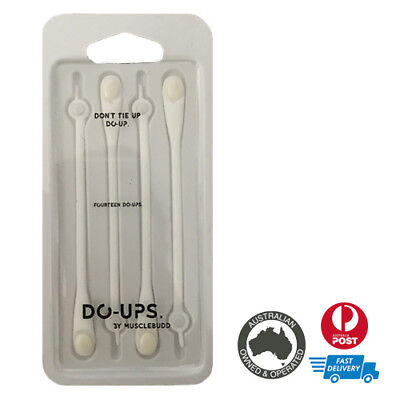 Musclebudd Do-ups  | No Tie Laces | Silicon | White | Hickies Replacement