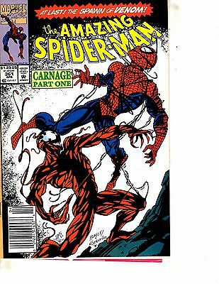 Amazing Spider-Man # 361 VF Marvel Comic Book Venom Goblin Vulture Carnage J254
