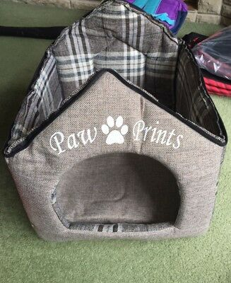 NEW COLLAPSABLE DOG CAT HOUSE Paw Prints NO ROOF
