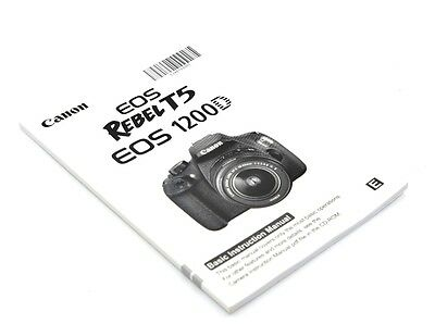 Canon Rebel T5 EOS 1200D Instruction Owners Manual Book- English