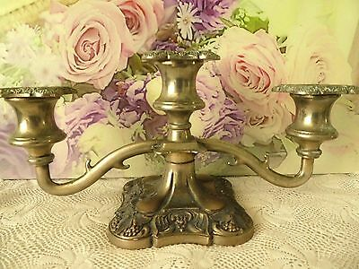 Antique vintage early 1900s candle holder candelabra silver plate art nouveau
