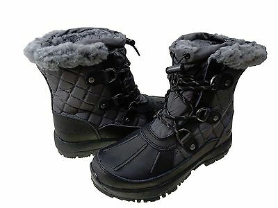 7ddc3946348 BEARPAW WOMENS BETHANY Lace Up Waterproof Cold Weather Shearling Snow Boots