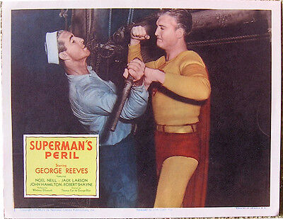 Superman's Peril Vintage Movie Poster Lobby Card 1954