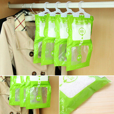 1x Interior Dehumidifier Desiccant Damp Storage Hanging Bags Wardrobe Rooms 100g