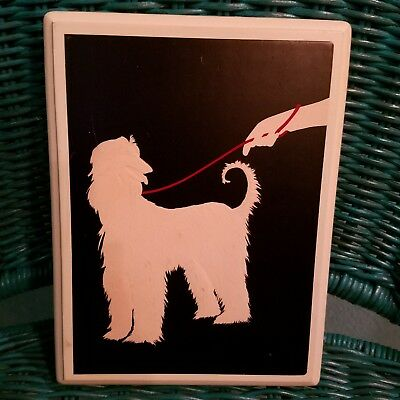 Afghan Hound Silhouetted Plaque