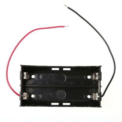3.7V 2x 18650 Parallel Batteries Holder Box Storage Case Container With Wire