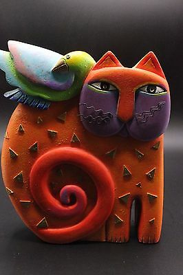 "Laurel Burch Medium 10.5"" Kindred Spirits Cat Sculpture Statue 1999"