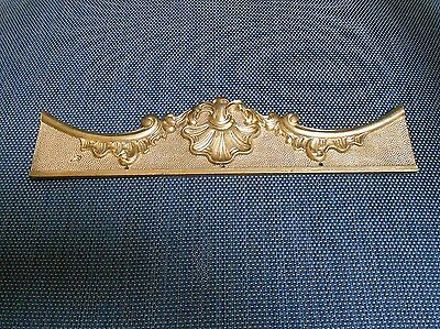 French VINTAGE BRONZE PLAQUE PEDIMENT LOUIS XV Style