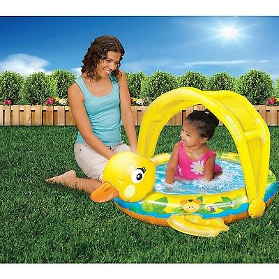 "Banzai Jr 36"" Inflatable Shady Time Duck Pool New Free Shipping"