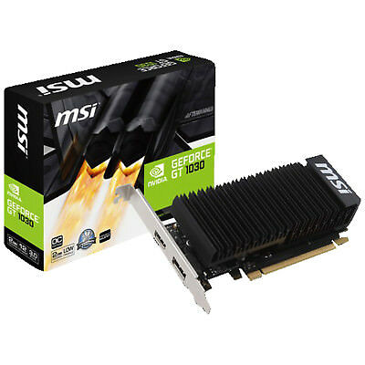 MSI GeForce GT 1030 2GH LP OC (V809-2498R)( NVIDIA, Grafikkarte)