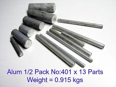 Aluminium 1/2 Pack No:401 x 13 Parts-Steam-Model Engineering-Mill