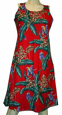 """Red Rayon """"Jungle Bird"""" Sleeveless A-line Dress/ by Paradise Found™"""