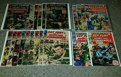 (Silver age) Sgt. fury and his howling commandos comic book lot.