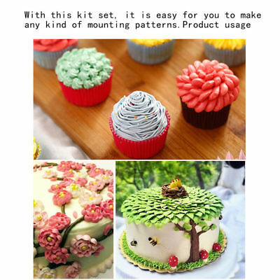 42Pcs Cake Pastry Icing Baking Decorating Pipping Nozzle Tip Embroidered Set Kit