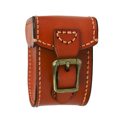 Fly Fishing Reels Cases Carry Pouch Box Spinning Cover Genuine Leather Brown AU