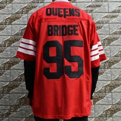 Prodigy # 95 Hennessy Queens Brücke Film Stitcked Red Football Jersey S-3XL
