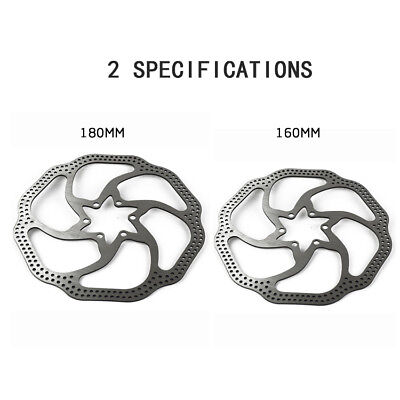 160mm/180mm Cycling Bicycle MTB Bike Stainless Steel Brake Pad Disc Rotor 6 Bolt