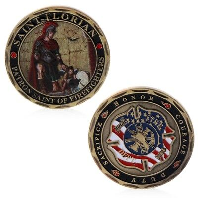 St. Florian Patron Saint Firefighters Fire Rescue Commemorative Coin Collection