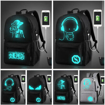 Luminous Backpack Boys&Girls Schoolbag for Teenagers Outdoor Travel Large US