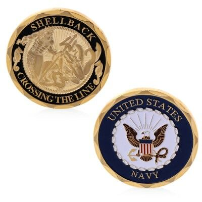 U.S. Navy Shellback Crossing The Line Sailor Eagle Commemorative Coin Collection