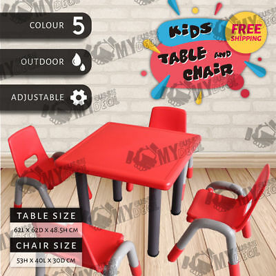 Kids Table and Heavy Duty Chairs For Young Children Age Group 3-9 Weight 80kg